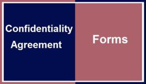 Confidentilityagreementforms